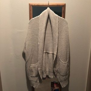 knit short sleeve cardigan